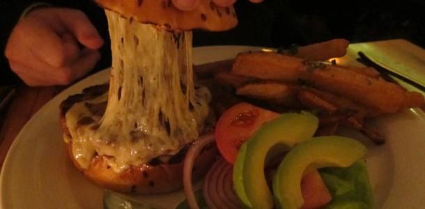 Perilla duck burger