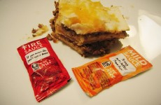 Quesarito fire sauce