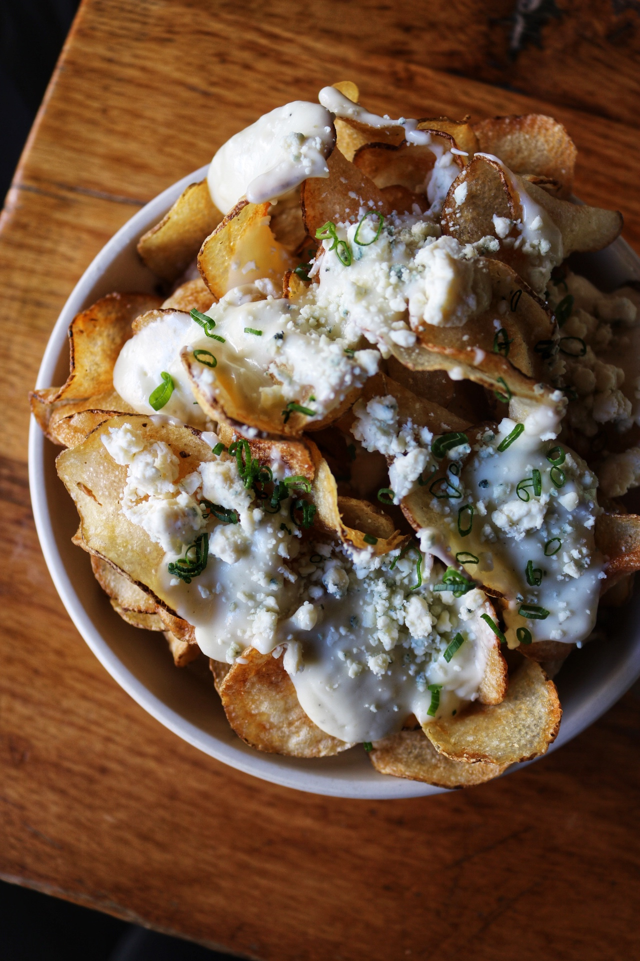 Blue Cheese Fondue potato chips the smith