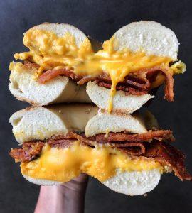 Bacon egg cheese Anthony Son Panini Shoppe