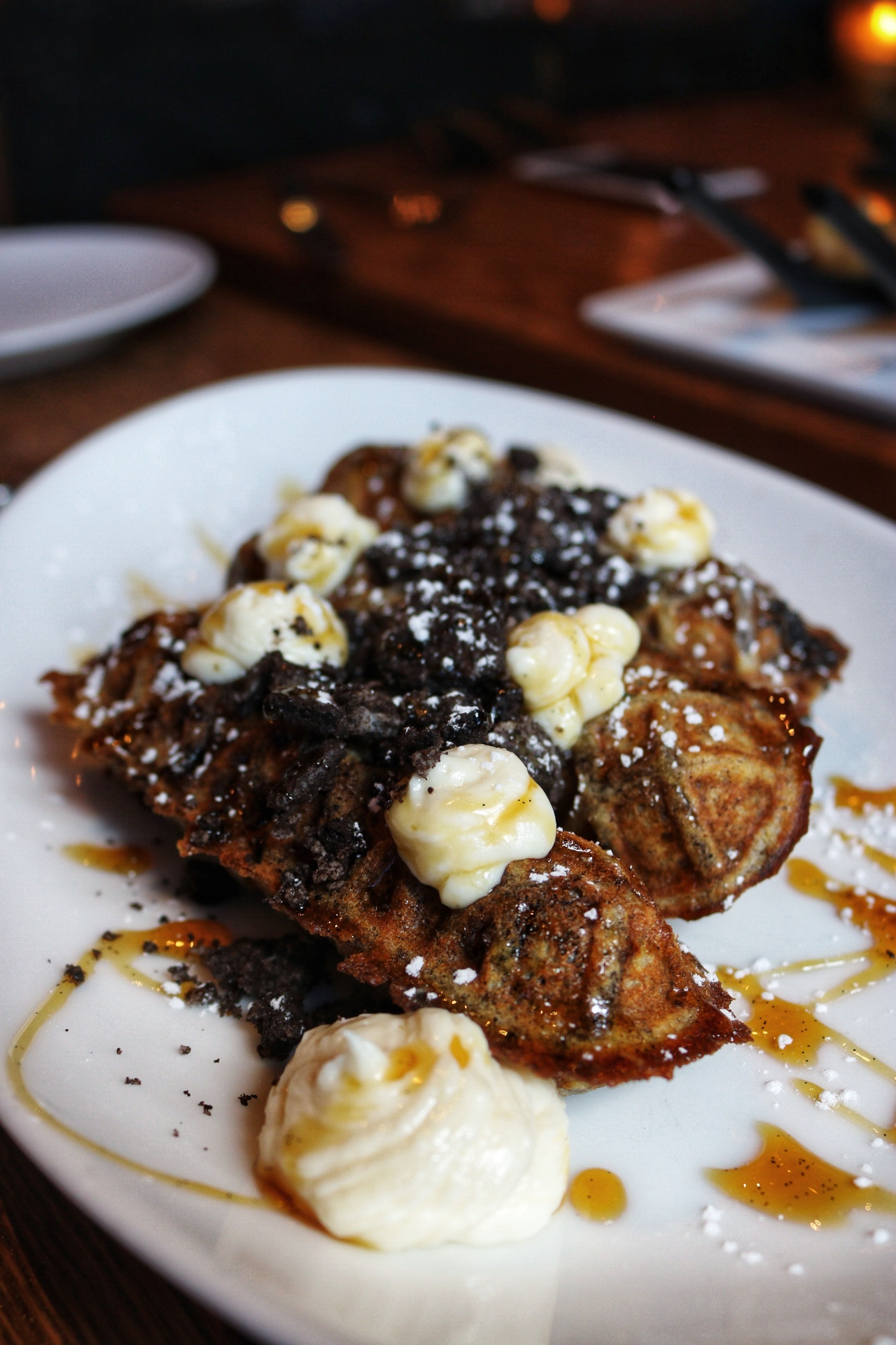 Oreo Cheesecake Waffles vandal
