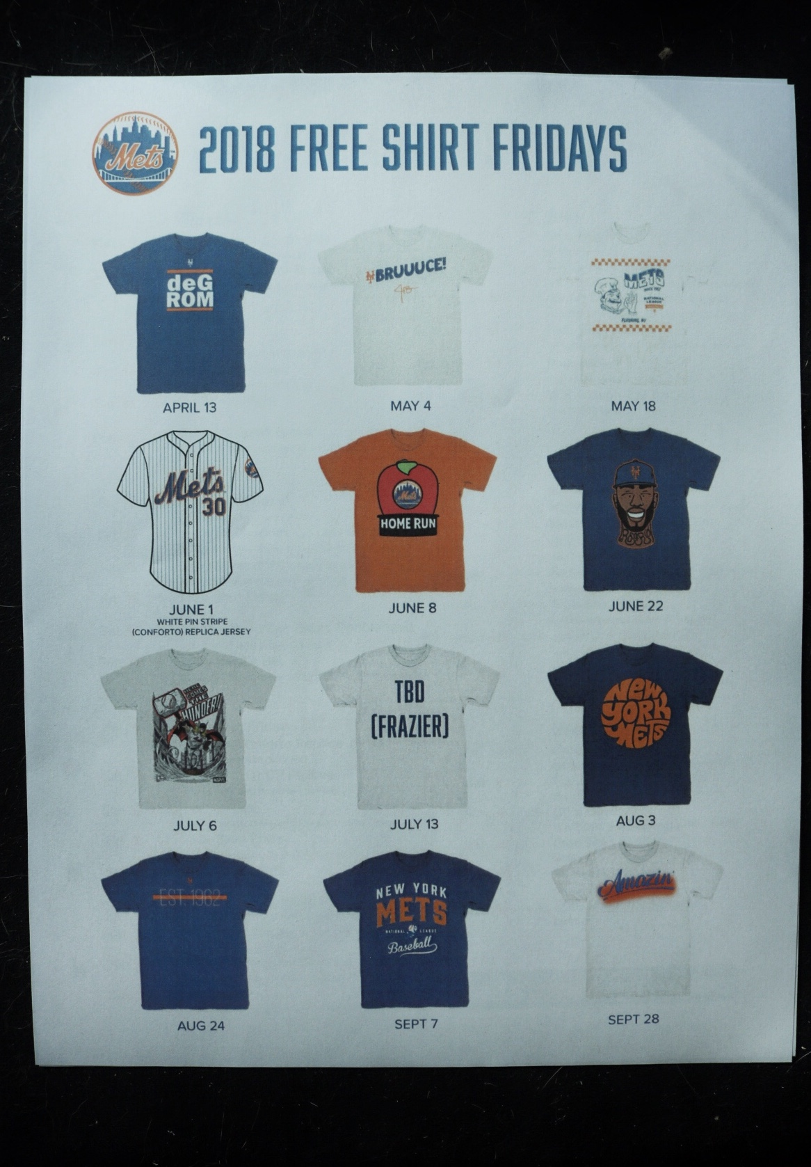 2018 t-shirts fridays citifield