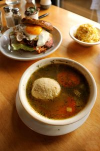 Mile End Deli matzoh ball soup