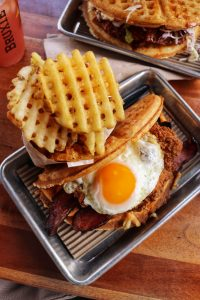 Bruxie Chicken & Waffles Sandwich