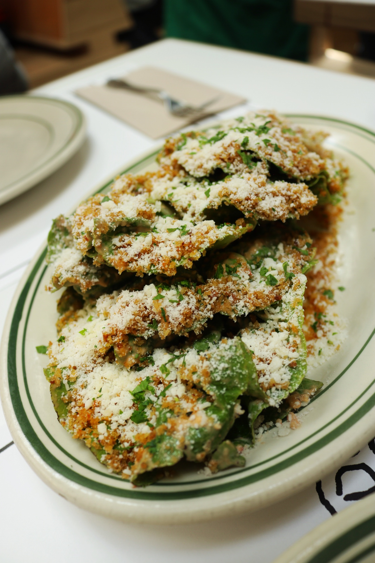 Gem Lettuce w/Spicy Calabrian Dressing, Parm & Breadcrumbs Jon & Vinnys