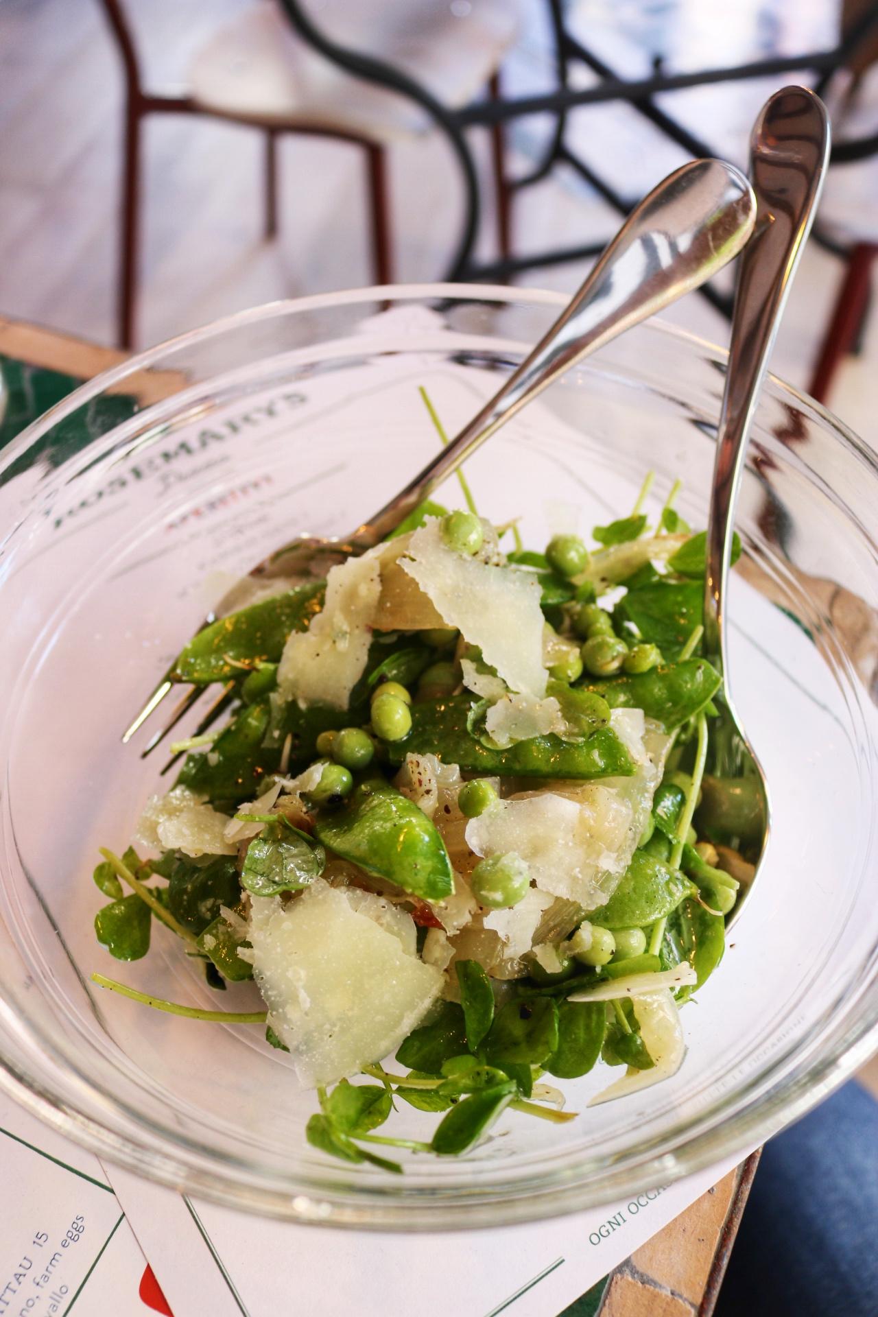 Sweet Peas Salad Rosemary's Pizza