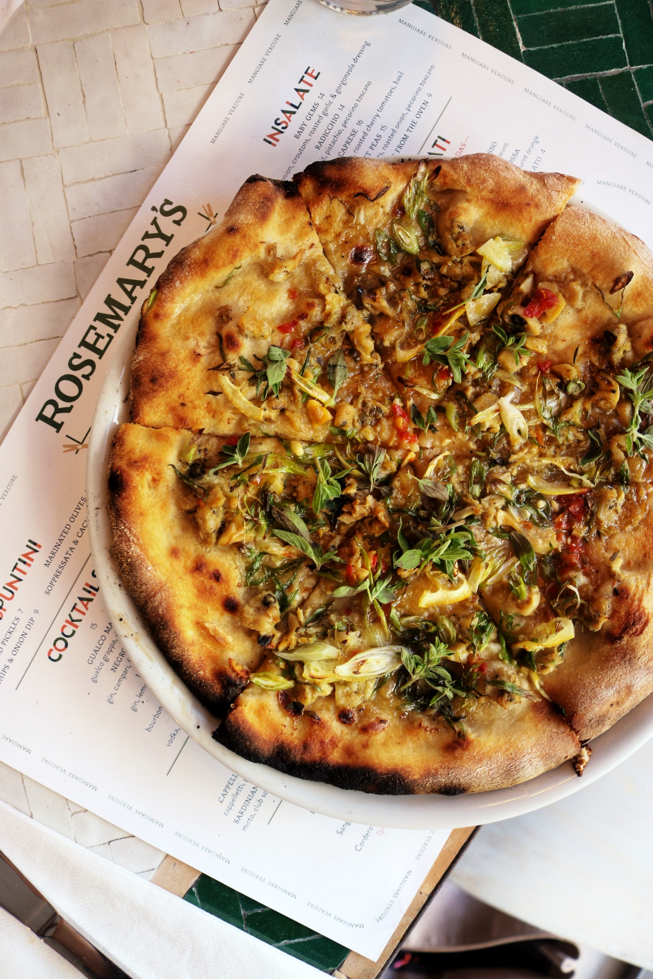 Dinner at: Rosemary's Pizza   The Skinny Pig
