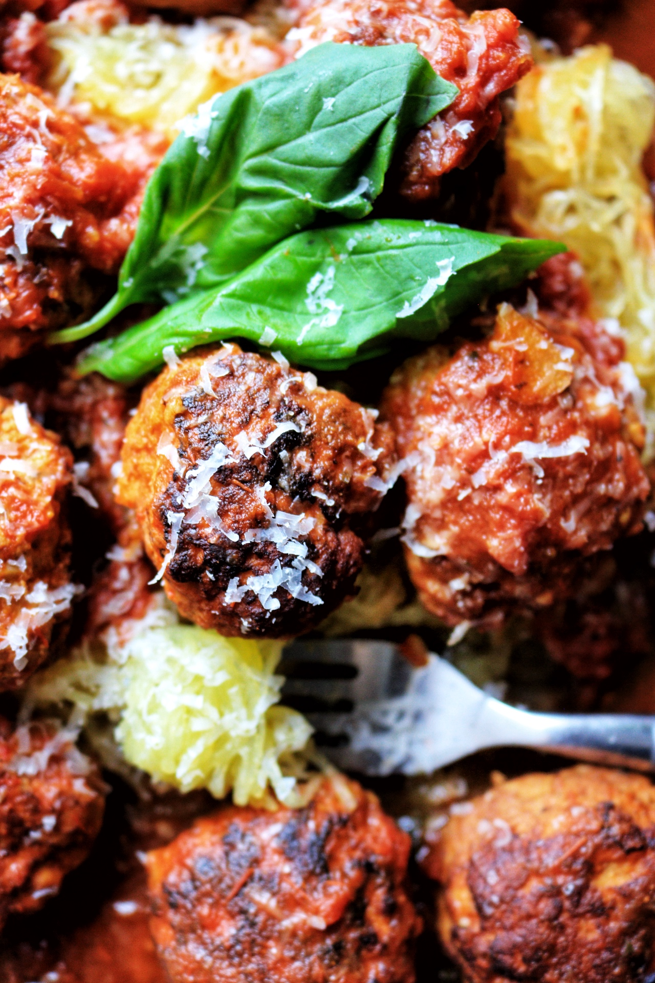 Instant Pot Turkey Meatballs and Spaghetti Squash