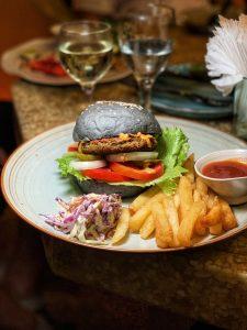 Akasha - Veggie Mushroom Burger