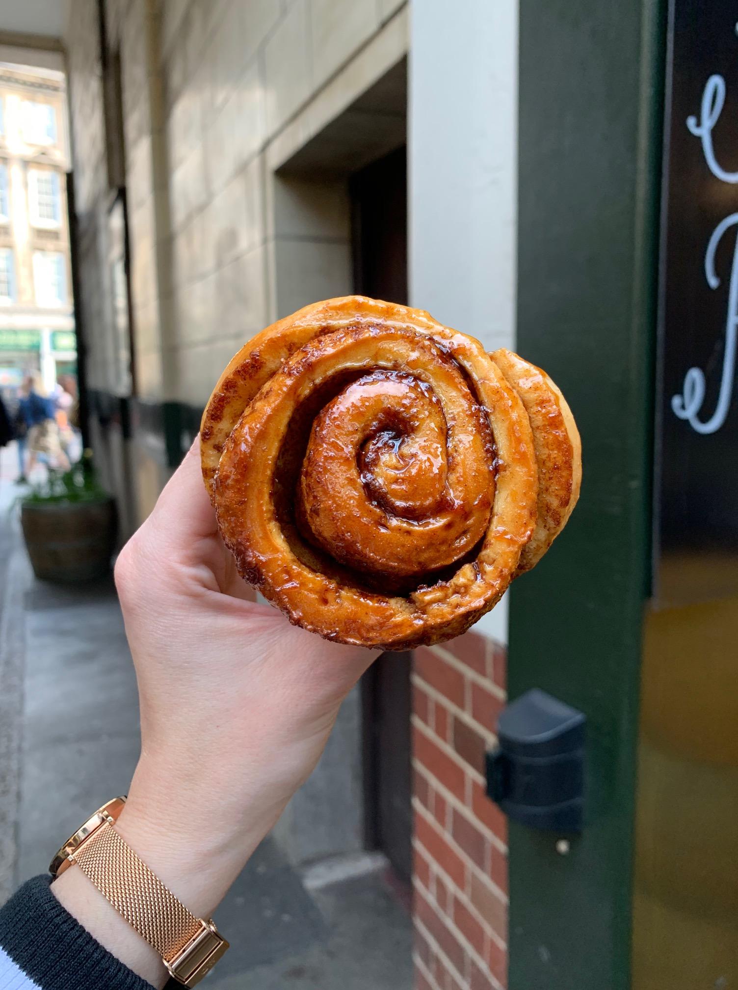 Borough Market - Bread Ahead Bakery (Cinnamon Scroll)
